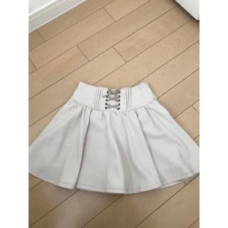 pom ponette - ポンポネット スカート インナーパンツ付き ベージュ 140