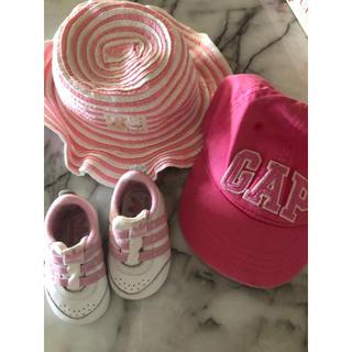 アディダス(adidas)の帽子と靴 新生児(帽子)