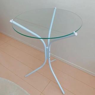 フランフラン(Francfranc)の【お値下げ】フランフラン francfranc ガラス  サイドテーブル(コーヒーテーブル/サイドテーブル)