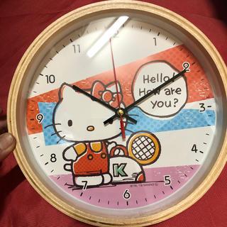 ハローキティ(ハローキティ)のキティ ウッドクロック(掛時計/柱時計)