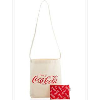 コカコーラ(コカ・コーラ)の斜めがけロゴトートバック&総柄ポーチ2点セット(トートバッグ)