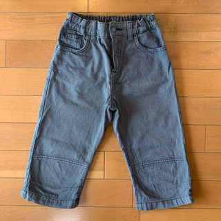 エイチアンドエム(H&M)の送料込み130cmH&M7〜8歳ボーイズズボンパンツ黒グレーキッズ子供男子(パンツ/スパッツ)