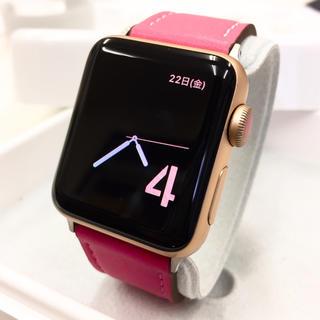 アップルウォッチ(Apple Watch)のApple Watch series3 Gold アップルウォッチ 38mm(その他)