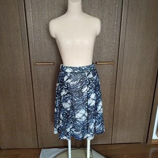 アルファキュービック(ALPHA CUBIC)のポリエステル素材 フレアスカート ALPHA CUBIC(ひざ丈スカート)