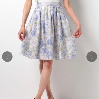 デビュードフィオレ(Debut de Fiore)のDebut de Fiore♡サマーオーガンジーフラワープリントスカート(ひざ丈スカート)