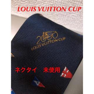 ルイヴィトン(LOUIS VUITTON)のLOUIS VUITTON ネクタイ ネイビー 未使用【送料無料】(ネクタイ)