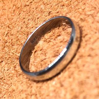 甲丸 シルバー925 リング  ユニセックス レディース メンズピンキー 銀指輪(リング(指輪))