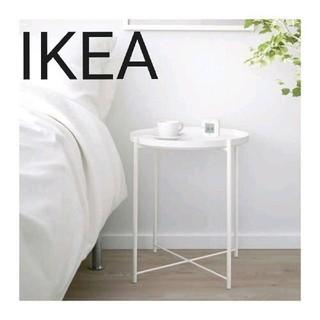 イケア(IKEA)のIKEA トレイテーブル, ホワイト, 45x53 cm(コーヒーテーブル/サイドテーブル)