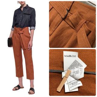 ブルネロクチネリ(BRUNELLO CUCINELLI)の美品ブルネロクチネリ 40混紡18SSハイウエスト  Dカンベルト ズボン(カジュアルパンツ)