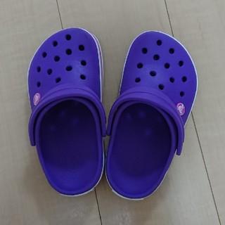 crocs - crocs  クロックス  キッズ  サンダル  約21cm  パープル
