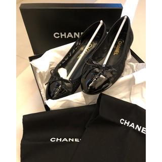 CHANEL - シャネルCHANEL 正規品レースバレエシューズ ブラック 37サイズフラット