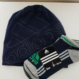 アディダス(adidas)の新品未使用 adidas 帽子&靴下(帽子)