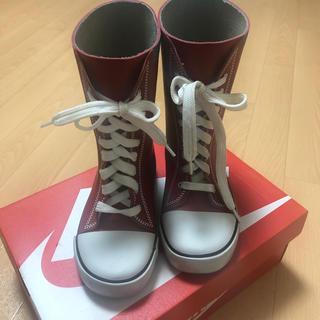 レインブーツ 赤  19cm(長靴/レインシューズ)