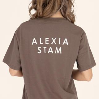 アリシアスタン(ALEXIA STAM)のalexiastam Tシャツ ブラウン(Tシャツ(半袖/袖なし))