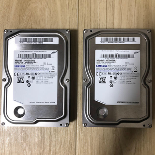 SAMSUNG - HDD 500GB 2台セット