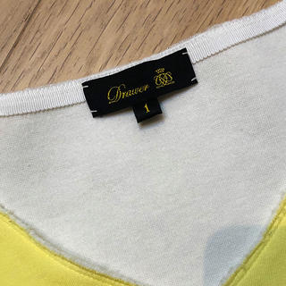 ドゥロワー(Drawer)の訳あり ドゥロワー Drawer イエロー カットソー 1(Tシャツ(半袖/袖なし))