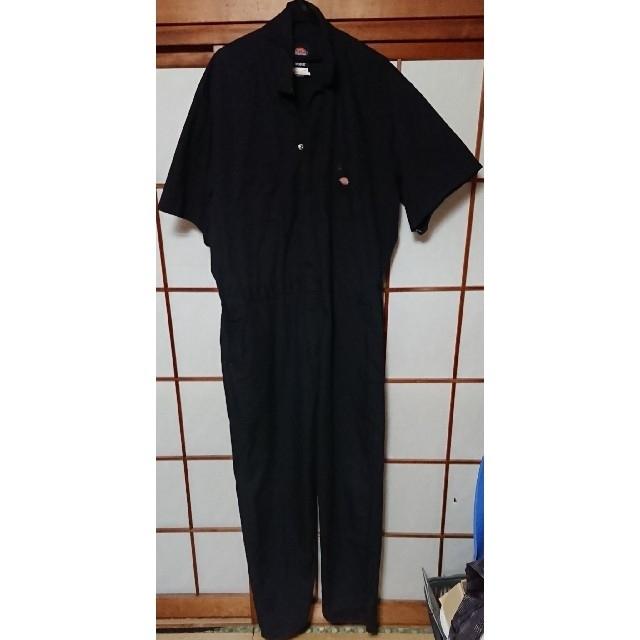 Dickies(ディッキーズ)のDickies ディッキーズ つなぎ 黒 半袖 メンズのパンツ(サロペット/オーバーオール)の商品写真