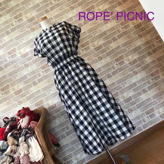 Rope' Picnic - ROPE' PICNIC ギンガムチェックヘムワンピース【美品】