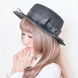 マーズ(MA*RS)のMARS カンカン帽 黒(麦わら帽子/ストローハット)