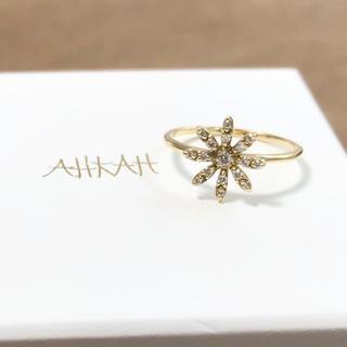 アーカー(AHKAH)の【定価9万2千円】美品 AHKAH フルブルーム (S) リング 0.1ct(リング(指輪))