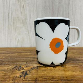 marimekko - マリメッコ ウニッコ50周年限定マグカップ 黒×オレンジ