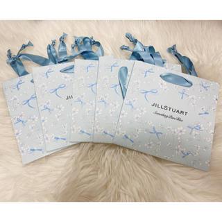 ジルスチュアート(JILLSTUART)のジルスチュアート 紙袋4枚 新作 クリスタルブルームサムシングピュアブルー(その他)