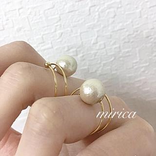 華奢見えパールリング♡指輪♡コットンパール(リング)