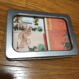 ディズニー(Disney)のピノキオ レターセット 缶ケース入り(カード/レター/ラッピング)