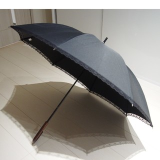 しまむら - ❤️値下げ❤️【しまむら】傘 黒 レース シンプル