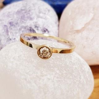 アガット(agete)の🍀0,1ct💎agete ライトブラウンダイヤモンドリング(リング(指輪))