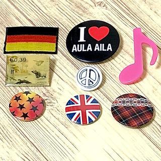 アウラアイラ(AULA AILA)の新品 缶バッジ & ドイツ国旗 ワッペン 8個セット(その他)