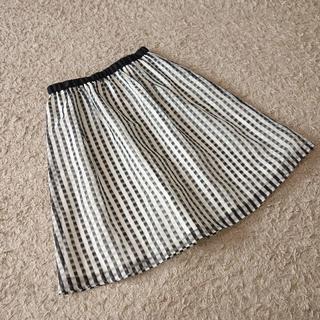 エニィスィス(anySiS)のanySIS/ウエストラメシアーチェックスカート(ひざ丈スカート)