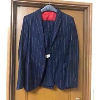 タケオキクチ(TAKEO KIKUCHI)のTKネイビースーツ!サイズM 美品 ストライプ(セットアップ)