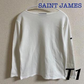 セントジェームス(SAINT JAMES)のセントジェームス ウェッソン 無地 白 T1 国内正規品(カットソー(長袖/七分))