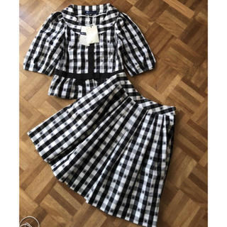 M'S GRACY - 新品タグ付きエムズグレイシー ギンガムチェックジャケット スカート