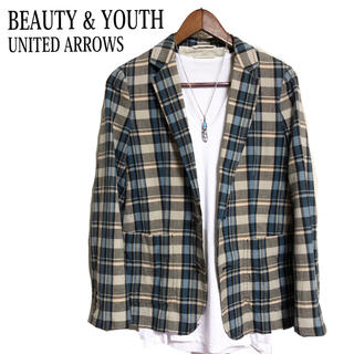 BEAUTY&YOUTH UNITED ARROWS - BEAUTY&YOUTH テーラードジャケット チェックジャケット 青