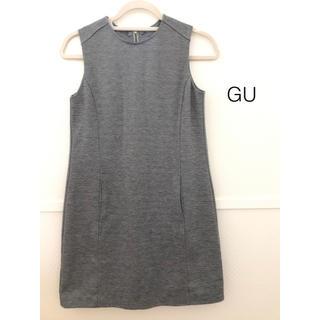 ジーユー(GU)の【GU】ポンチワンピース/ノースリーブ/膝上丈ワンピ(ミニワンピース)