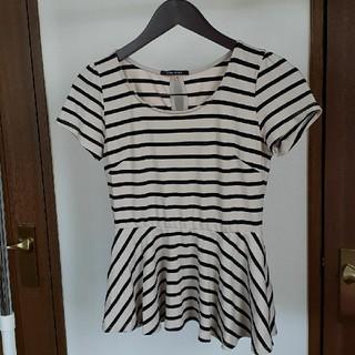 ワンウェイ(one*way)のOne way  チュニック  ボーダーTシャツ  M(Tシャツ(半袖/袖なし))