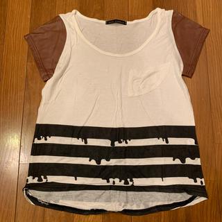 カウイジャミール(KAWI JAMELE)のKAWIJAMELE  袖レザー切替Tシャツ(Tシャツ(半袖/袖なし))