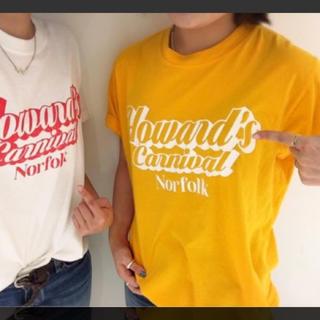 アングリッド(Ungrid)のungrid   Howard's プリントTee(イエロー)  新品(Tシャツ(半袖/袖なし))