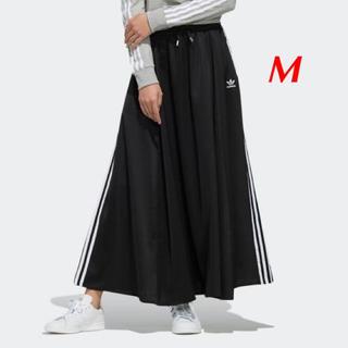 アディダス(adidas)の【レディースM】黒 ロングサテンスカート (ロングスカート)