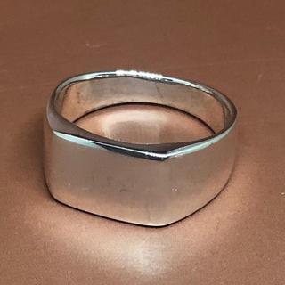 印台 シルバー925リング  シグネット ハンコ スクエア四角 ユニセックス(リング(指輪))