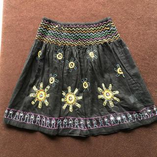 アンティックバティック(Antik batik)のANTIK BATIK アンティックバティック 刺繍スカート チチカカ(ひざ丈スカート)