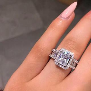 ☆ラスト1点☆ AAAランク ダイヤモンドcz リング 指輪 シルバー(リング(指輪))