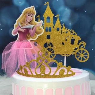 ディズニー(Disney)のケーキトッパー お誕生日 飾り パーティー プリンセス  オーロラ姫(その他)