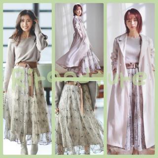 Rirandture - 新品・未使用 Rirandture ベルト付きチュール風刺繍スカート