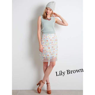 Lily Brown - Lily Brown オーガンジーフラワースカート