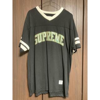 シュプリーム(Supreme)の17A/W Supreme glitter arc football top L(Tシャツ/カットソー(半袖/袖なし))