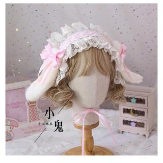 うさみみヘッドドレス ピンク(アクセサリー)