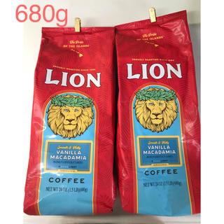 ライオンコーヒー バニラマカダミア680g✖︎2個(コーヒー)
